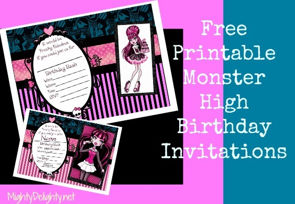 Monster High Party Invitations Monster High Party Invitations For