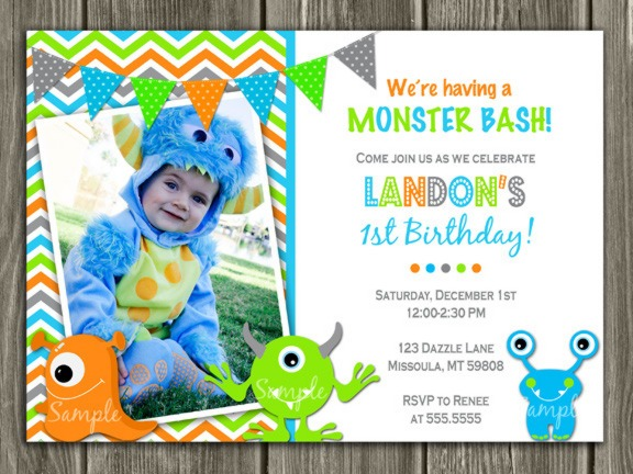 Monster Invitations Birthday Spectacular With Monster Invitations