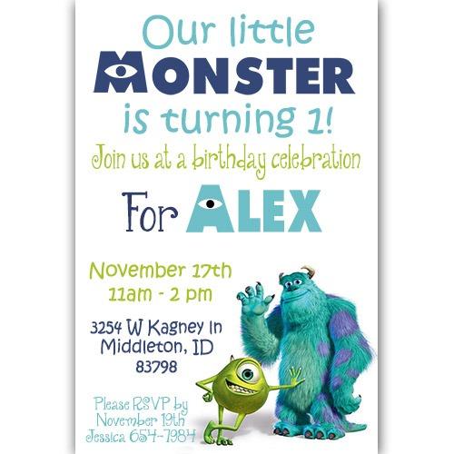 Monsters Inc Birthday Invitation Epic Monsters Inc Birthday