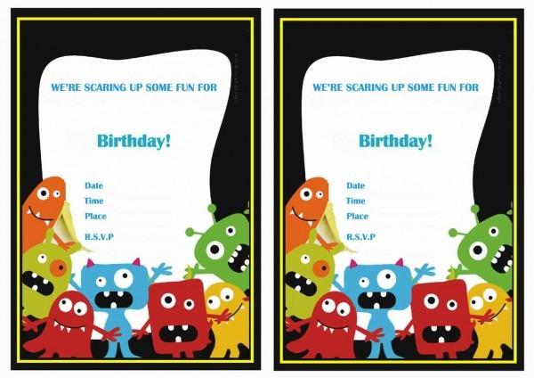 Monsters University Birthday Invitations – Birthday Printable