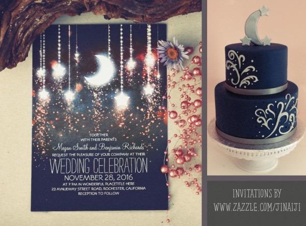Romantic Moon And Stars Wedding Invitations – Need Wedding Idea