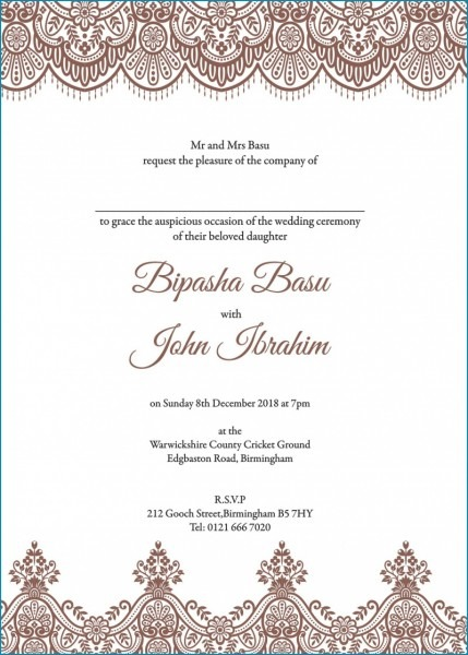 Excellent Muslim Wedding Invitation Wording Samples