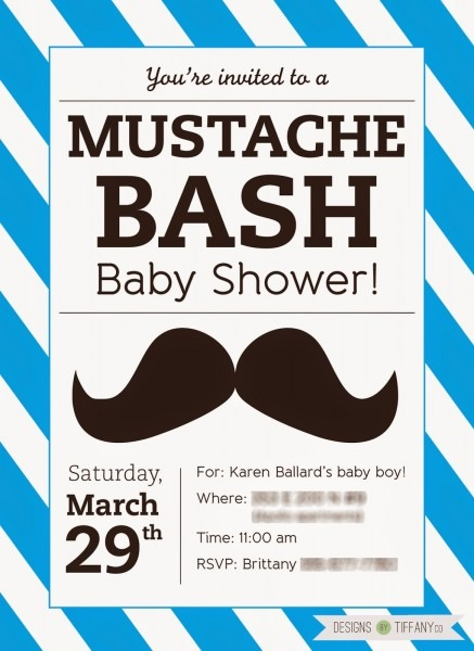 Free Printable Mustache Baby Shower Bash!
