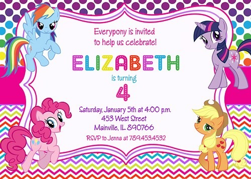 My Little Pony Birthday Card My Little Pony Birthday Party