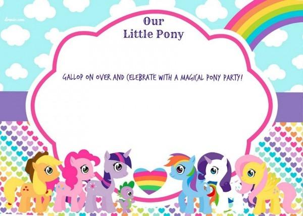My Little Pony Birthday Invitations Printable Free New With My