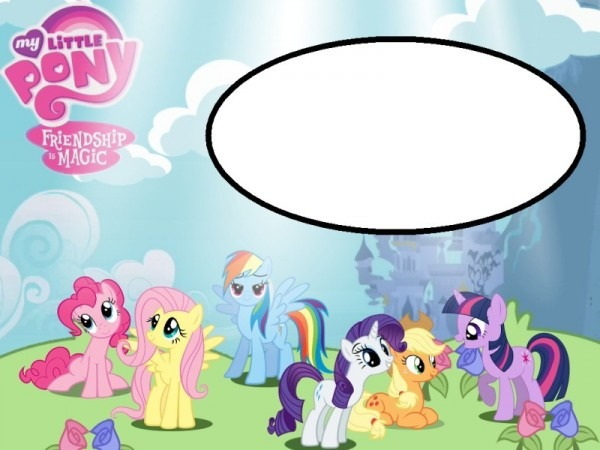 Create My Little Pony Birthday Party Invitations Simple My Little
