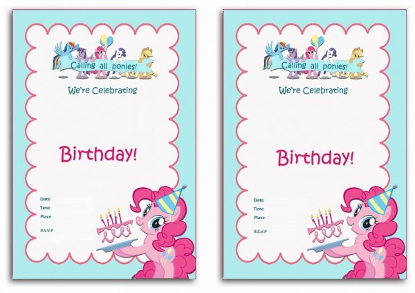 My Little Pony Printable Birthday Invitations Lovely With My