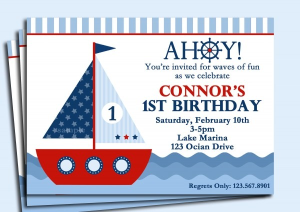 Nautical Birthday Invitations And Get Ideas How To Make Fantastic