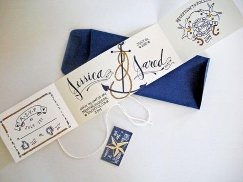 Boat Themed Wedding Invitations