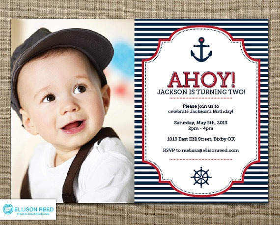Nautical Invitation Nautical Perfect Nautical First Birthday