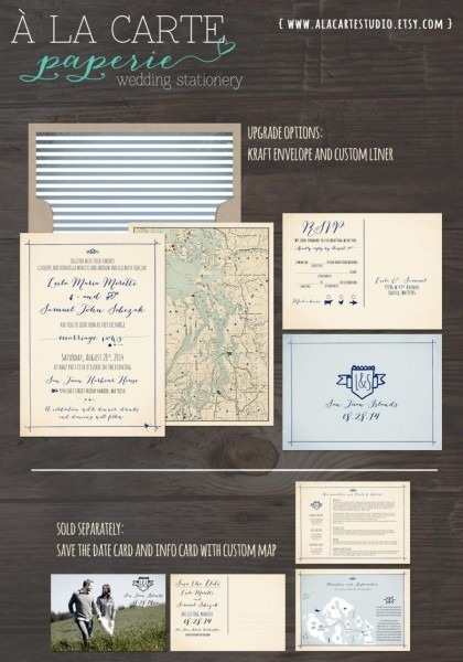 Nautical Island Wedding Invitation Rsvp Set Whimsical Destination