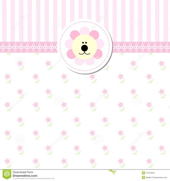 New Baby Shower Invitation Card Stock Vector