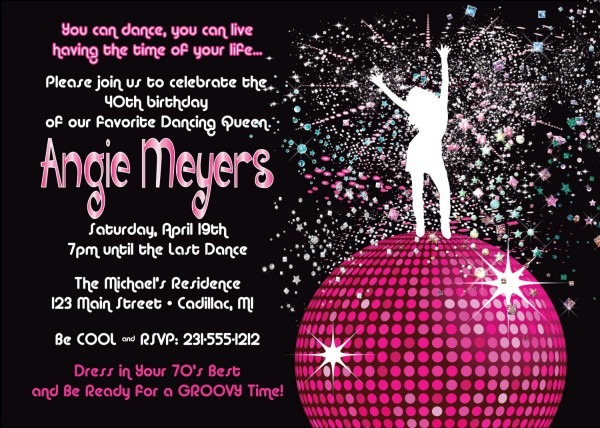 New Disco Party Invitations 51 With Additional Invitations Cards