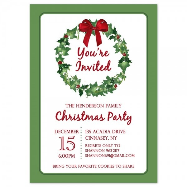 New Free Printable Christmas Party Invitations Templates 73 On