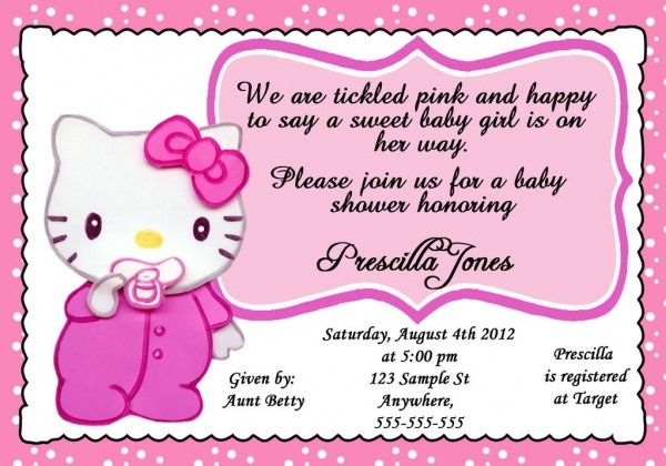 Luxury Hello Kitty Baby Shower Invitations 18