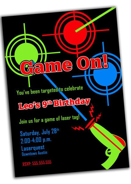 New Laser Tag Birthday Invitations Ideas To Create Your Own