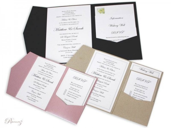 Diy Pocket Wedding Invitations Australia