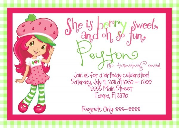 New Strawberry Shortcake Birthday Invitations 64 For Your