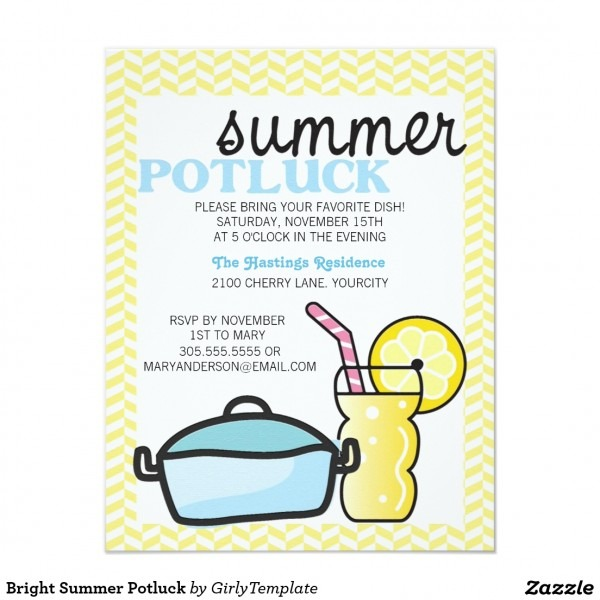 Potluck Invitation Wording Samples