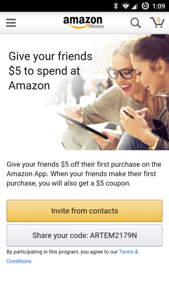 Amazon Will Give You And Your Friends $5 Each For Using The Amazon