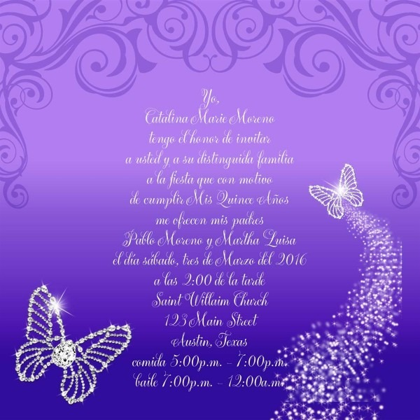 Nice Butterfly Quinceanera Invitations 60 In Picture Design Images