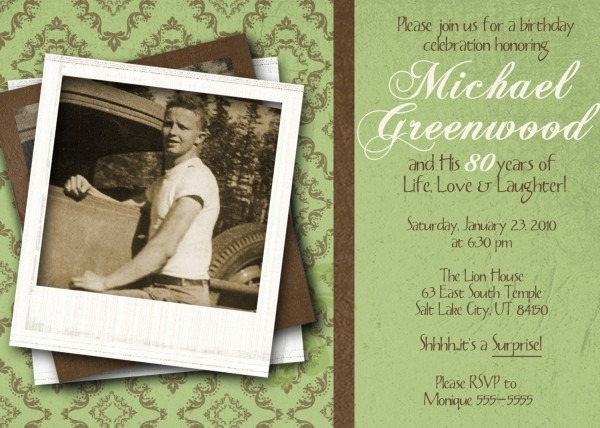 80th Birthday Invitation Silver Glitter Cheers To 80 Years