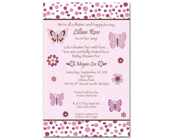 Nice Girl Baby Shower Invitation Wording 52 About Picture Design