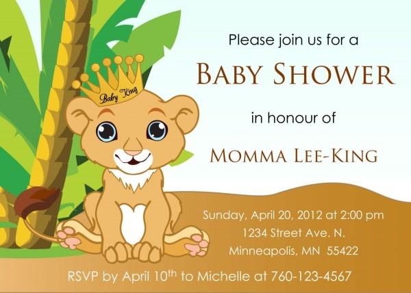 Nice The Lion King Baby Shower Wyllieforgovernor Awesome Birthday
