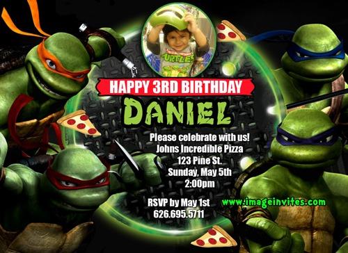 Ninja Turtles Birthday Invitations Ninja Turtles Birthday