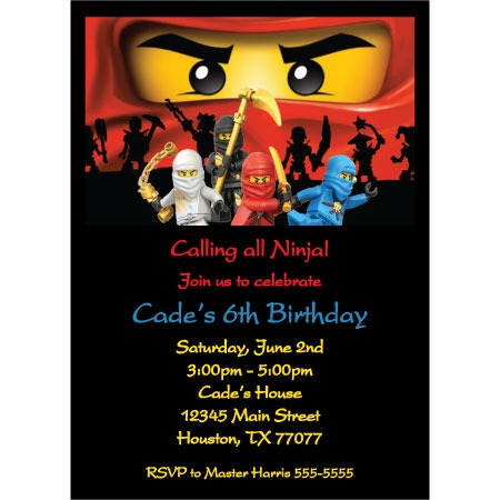 Fabu Trend Ninja Birthday Party Invitation Template