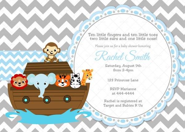 Baby Shower Invitation Template Noah's Ark Baby Shower Invitations