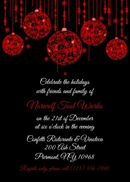 Staff Christmas Lunch Invitation Template