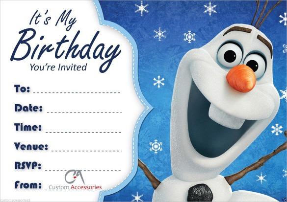 Olaf Birthday Invitations Olaf Birthday Invitations And Your New