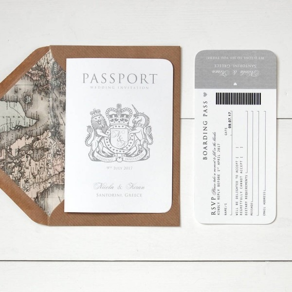 Around The World' Passport Wedding Invitation By Ditsy Chic
