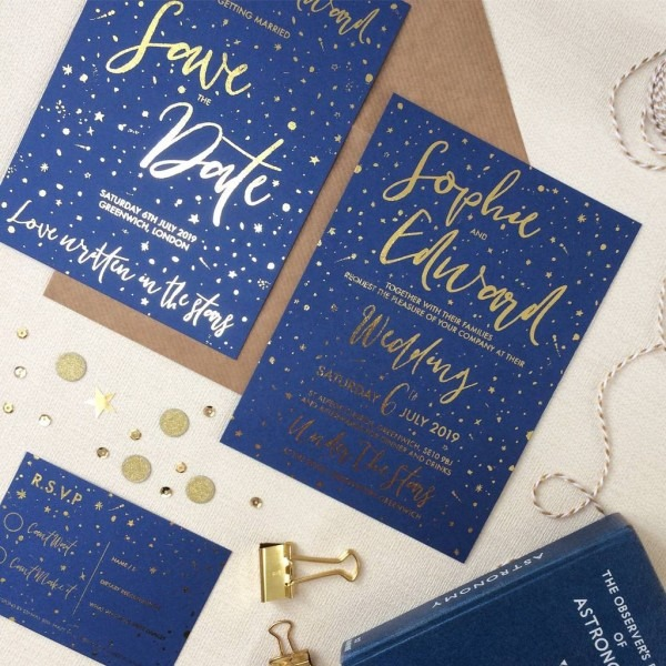 Celestial Wedding Invitations By Love Paper Wishes