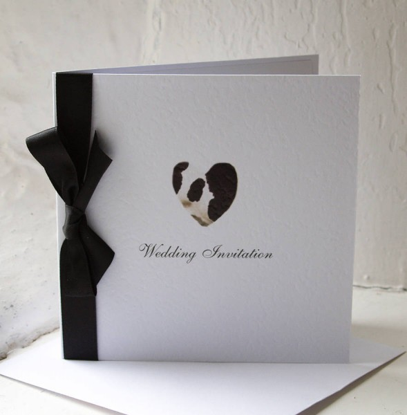 Cow Print Heart Wedding Party Stationery By The Wild Partridge