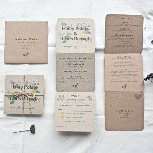 Floral Tri Fold Wedding Invitation By Paper And Inc