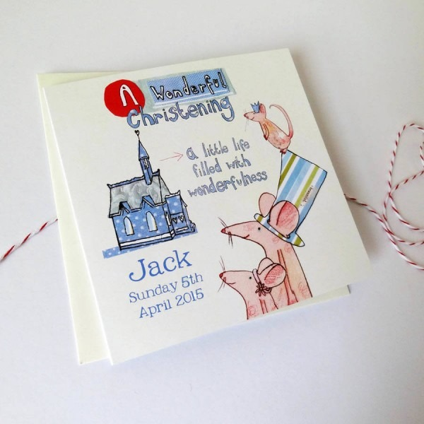 Personalised Christening Invitation Cards By Alice Palace