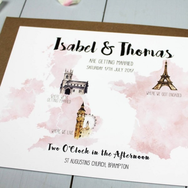 Personalised Destination Wedding Invitation By Beija Flor Studio