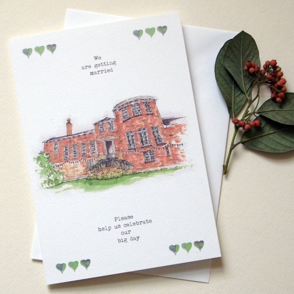 Personalised Wedding Venue Invitations Greeting Card By Homemade
