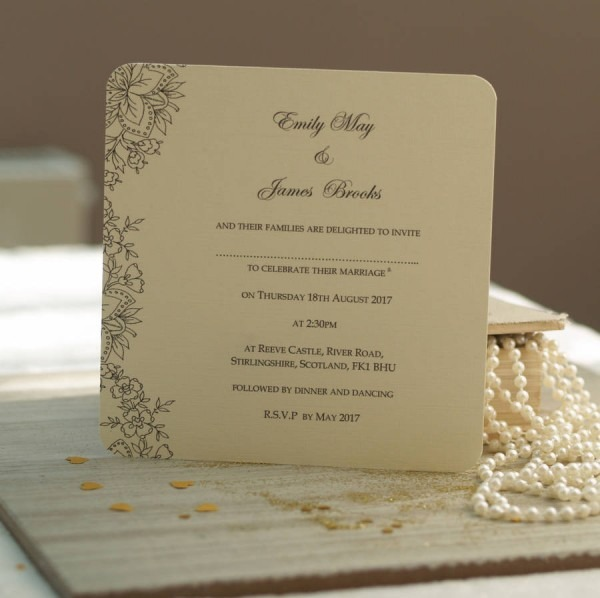 Wedding Ideas  Vintage Lace Wedding Invitations