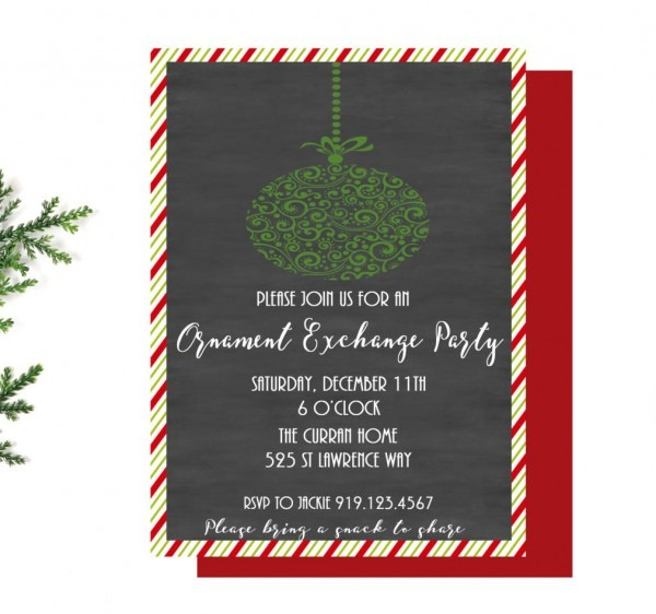 Ornament Exchange Party Invitation, Christmas Party Invite