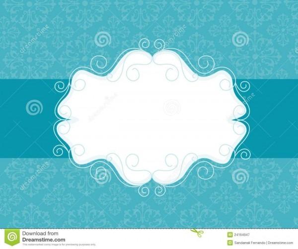 Ornamental Invitation Background Stock Vector