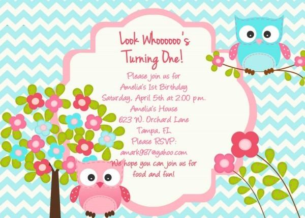 Owl Birthday Invitat Superb Owl Birthday Invitations