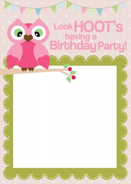 Owl Birthday Invitations Amazing Owl Birthday Invitations