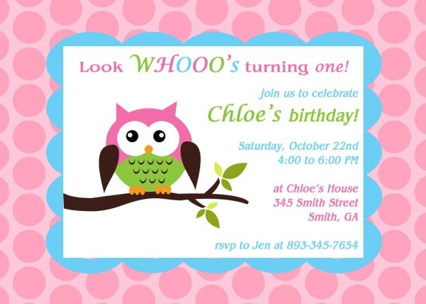 Owl Birthday Invitations Owl Birthday Invitations And New Birthday