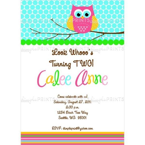 Owl Printable Invite Awesome Owl Birthday Party Invites
