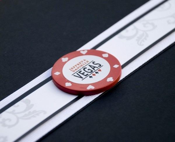 Vegas Poker Chip Bachelorette Party Invitation