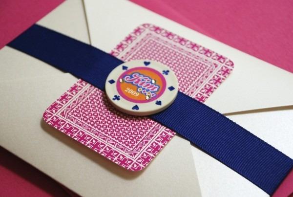 Vegas Poker Chip Bachelorette Party Invitation (playing Card)