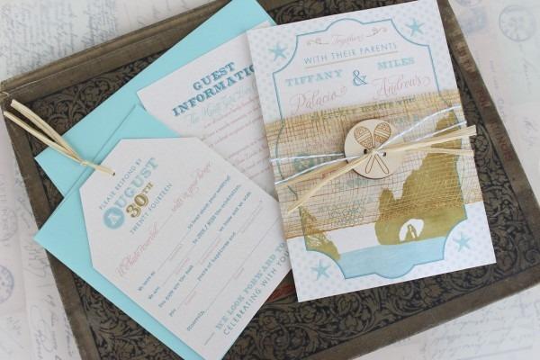 Typography Travel Wedding Invitation (los Cabos, Mexico)